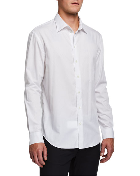 Emporio Armani Men's Fancy Pattern Sport Shirt
