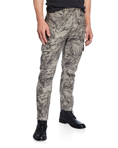 Men's Trueper Graphic-Print Cargo Pants
