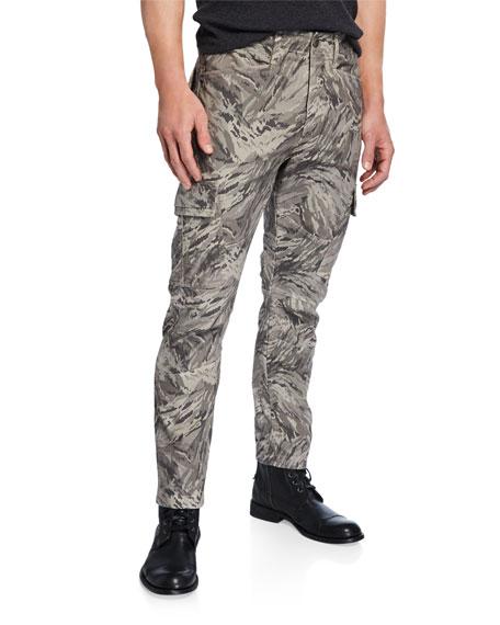 J Brand Men's Trueper Graphic-Print Cargo Pants