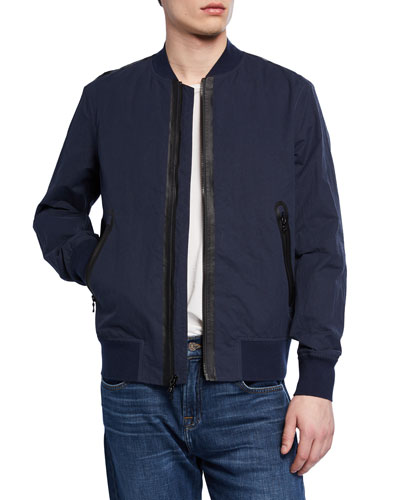 Men's Tech-Nylon Bomber Jacket