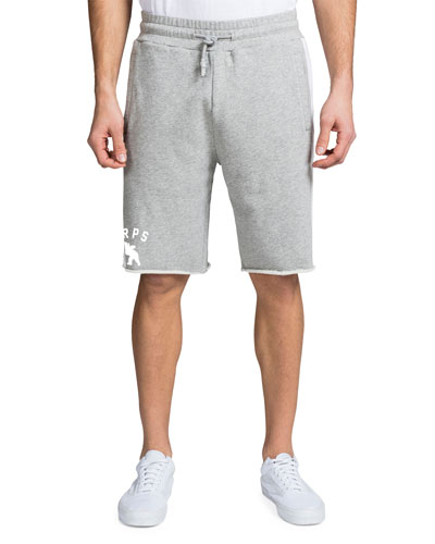 Men's Striped-Trim Fleece Shorts