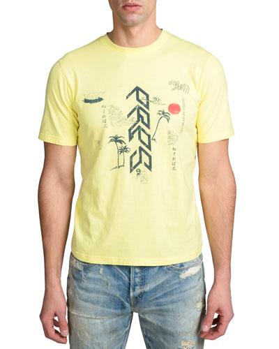 Men's Short-Sleeve Vintage Japan Graphic T-Shirt