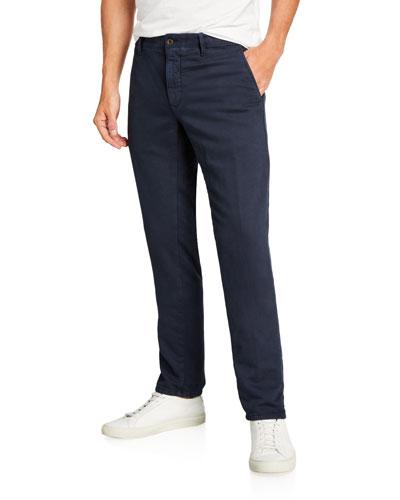 Men's Slim Flat-Front Washed Chino Pants