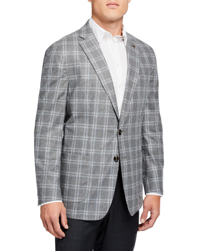 Men's Monterey Windowpane Two-Button Jacket