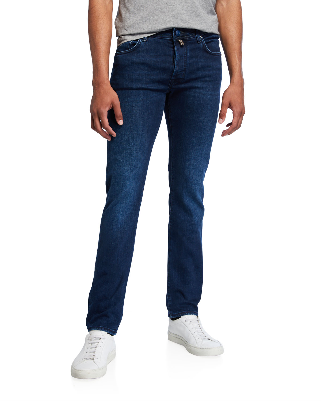 Jacob Cohen Jeans MEN'S BASIC DENIM STRAIGHT-LEG JEANS