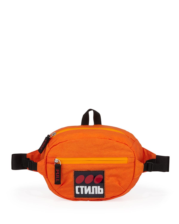 Heron Preston Men's CTNMB Dots Logo Belt Bag/Fanny Pack
