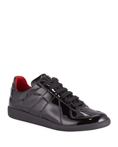 Men's Replica Lace-Up Patent  Sneakers