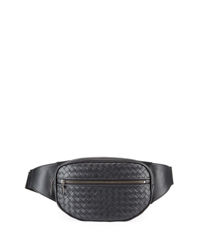 Men's <em>Intrecciato</em> Leather Belt Bag