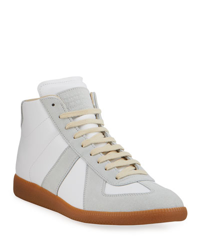 Men's Replica Paneled Leather/Suede High-Top Sneakers