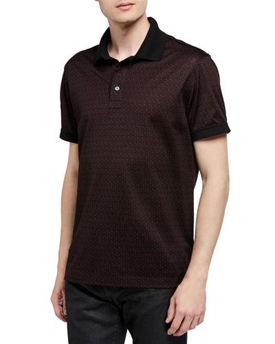 Men's Gancini Cotton Pique Polo Shirt