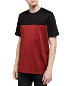 Salvatore Ferragamo Men's Colorblocked Logo T-Shirt