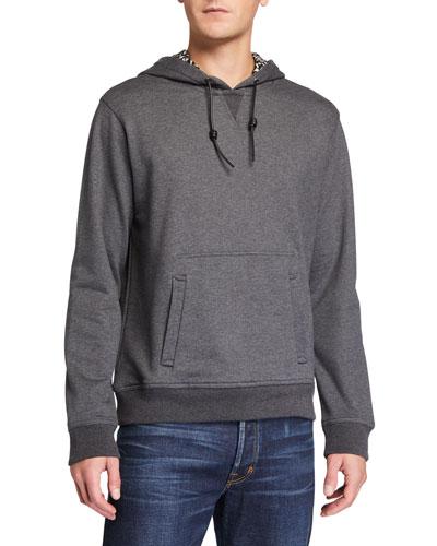 Men's Gancini-Print Pullover Hoodie