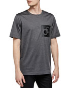 Salvatore Ferragamo Men's Gancini Patch T-Shirt