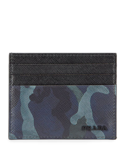 Men's Camouflage Leather Card Case