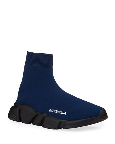 Men's High-Top Knit Sock Sneakers