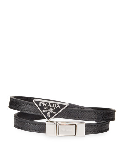 767aa5b3804 Quick Look. Prada · Men's Saffiano Leather Wrap Bracelet. Available in Black