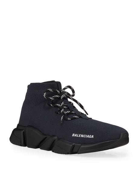 Balenciaga Men's Speed Lace-Up Knit Sneaker