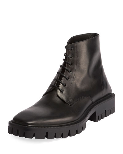 Men's Outdoor Rim Leather Combat Boots