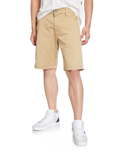 Men's Bornson Straight-Leg Twill Shorts