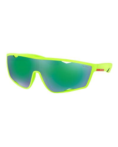 Men's Active Shield Sunglasses, Green