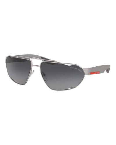 Men's Active Shield Sunglasses, Dark Gray