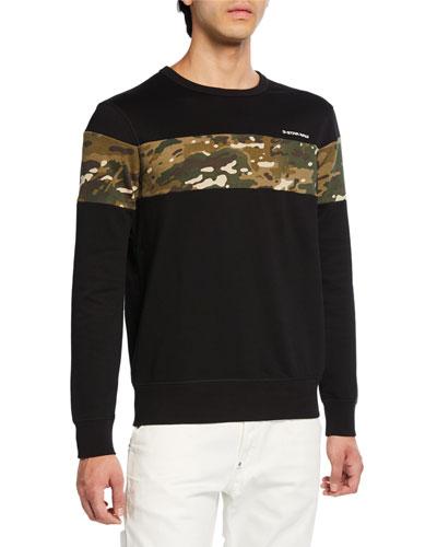 Men's Camo Black Sweatshirt