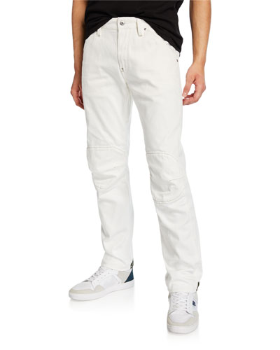 Men's 5622 Zip-Trim Skinny Jeans, White