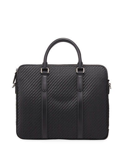 Men's Pelle Tessuta Business Bag