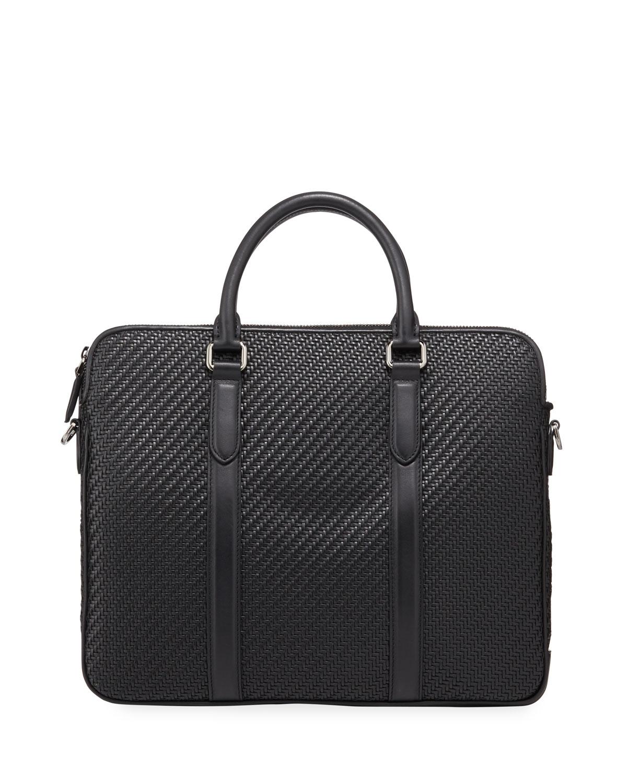 Ermenegildo Zegna Bags Men's Pelle Tessuta Business Bag