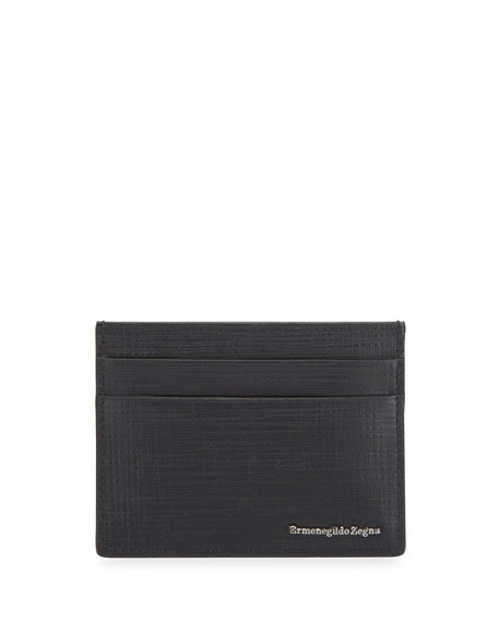Ermenegildo Zegna Men's Printed Leather Card Case