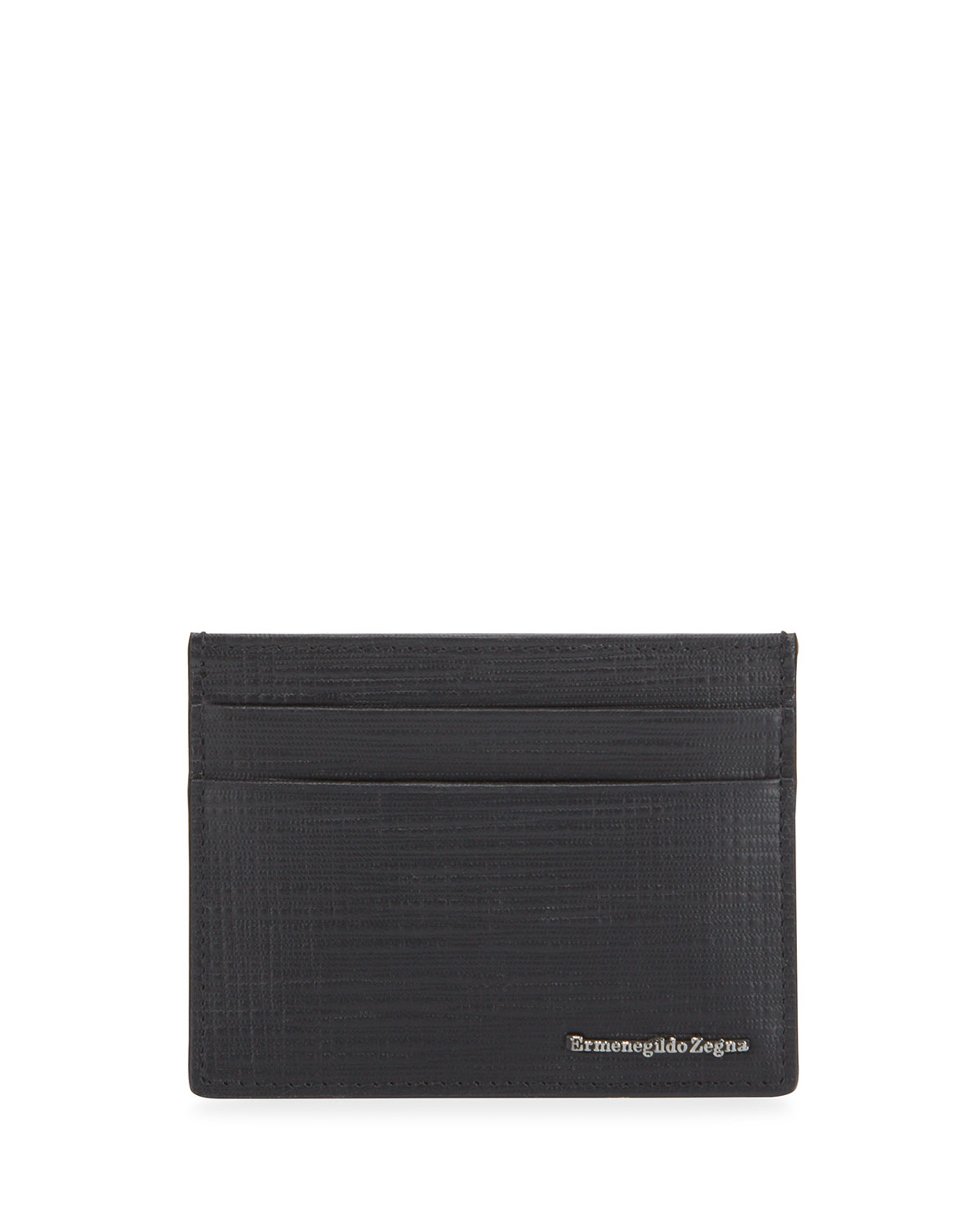 Men's Printed Leather Card Case