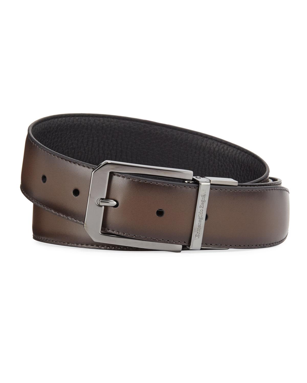 Men's Reversible Calf Leather Belt