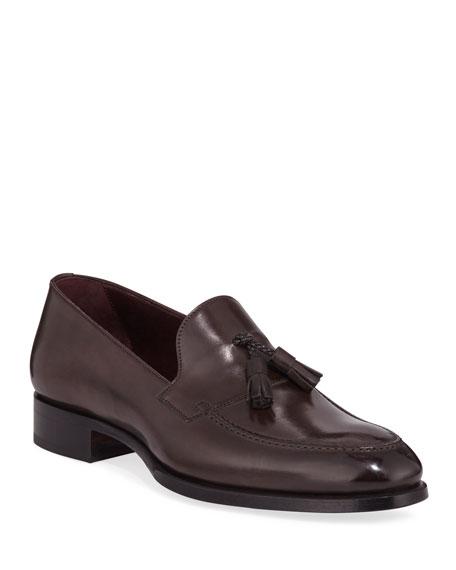 Brioni Men's Aurland Leather Tassel Loafer