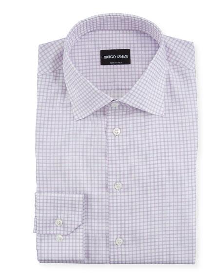 Giorgio Armani Men's Graph-Check Dress Shirt