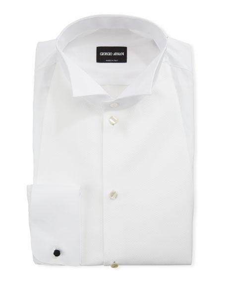 Giorgio Armani Men's Bib-Front Formal Shirt