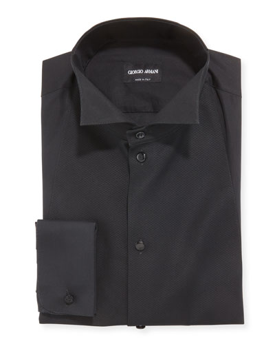 Men's Bib-Front Formal Dress Shirt