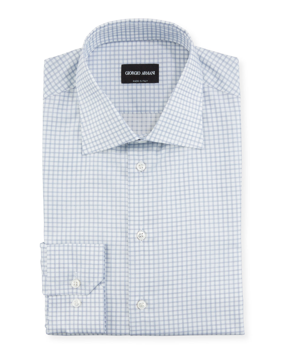 Giorgio Armani Dresses MEN'S CHECK DRESS SHIRT