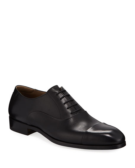 Magnanni Men's Leather Cap-Toe Oxford Shoes