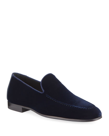 Magnanni Men's Velvet Moc-Toe Loafers