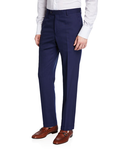 Men's Straight-Leg Twill Dress Pants