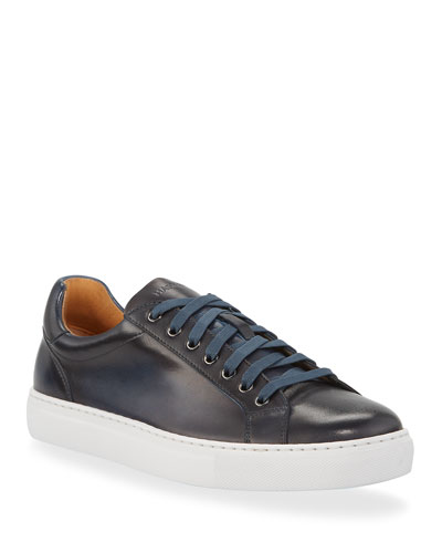 Men's Low-Top Leather Napa Sneakers