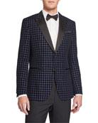 BOSS Men's Slim Fit Houndstooth Dinner Jacket