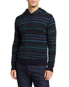 Ralph Lauren Men's Cashmere Fair Isle Hoodie Sweater