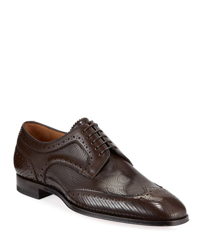 Men's Cousin Derbissimo Brogue Leather Derby Shoes