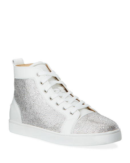 Christian Louboutin Men's Louis Crystal Red Sole Sneakers