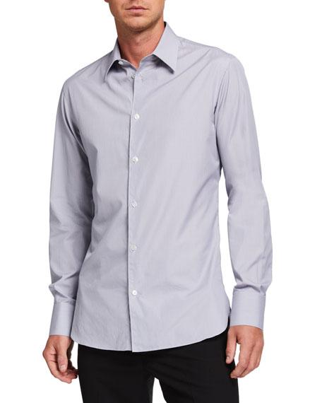 THE ROW Men's Jasper Solid Cotton Sport Shirt