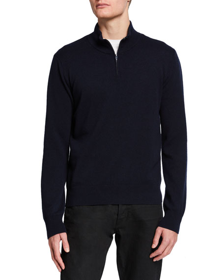 THE ROW Men's Dexter Half-Zip Cashmere Sweater