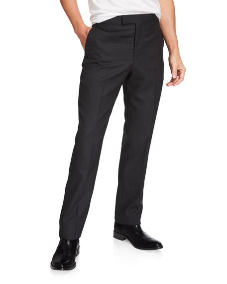 THE ROW Men's Isaac Straight-Leg Wool Pants
