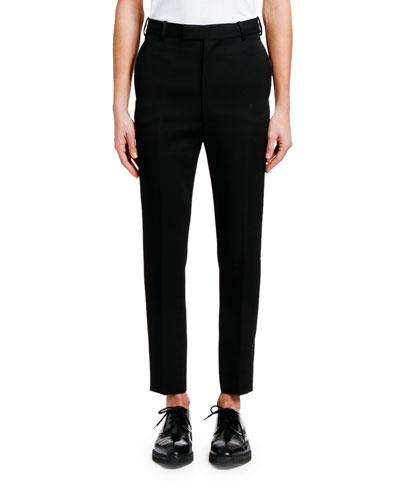 Men's Slim-Fit Wool Trousers