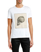 Alexander McQueen Men's Study Skull Short-Sleeve Graphic T-Shirt